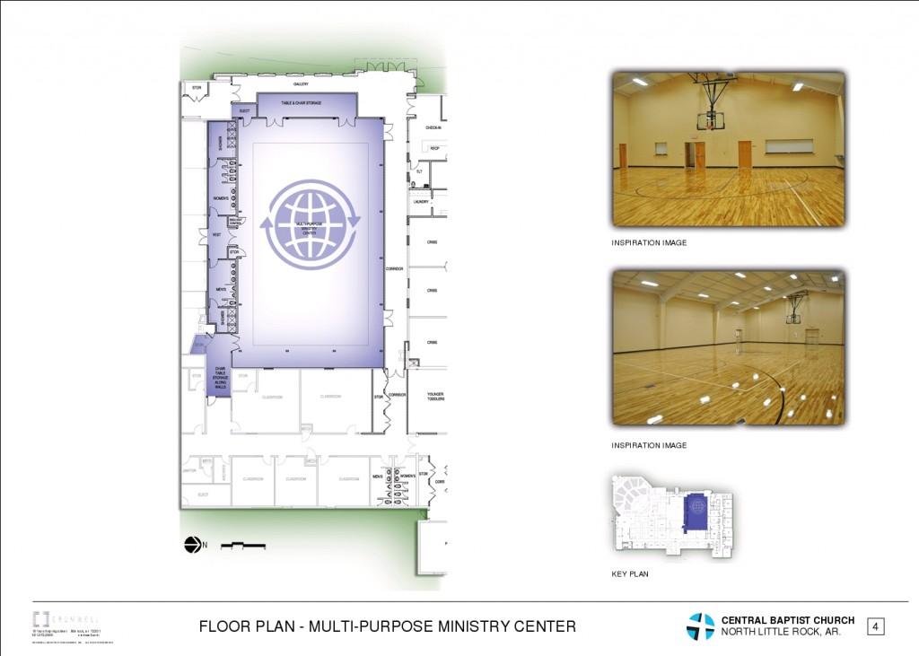 5 - FLOOR PLAN - MULTI-PURPOSE MINISTRY CENTER