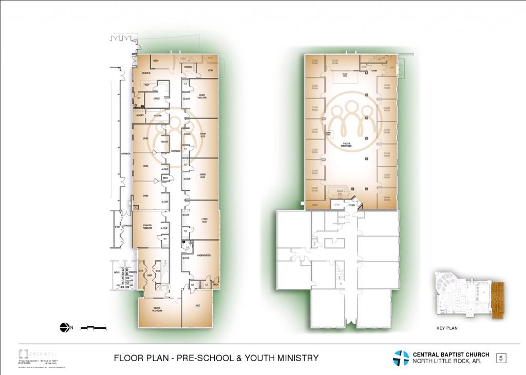 6 - FLOOR PLAN - PRE-SCHOOL & YOUTH MINISTRY